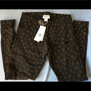 Adidas Ladies Leopard Ankle Pants/Tights Size M